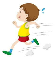 Little boy running fast vector