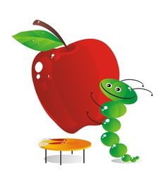 Food catepillar vector
