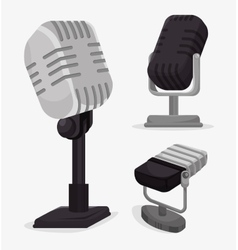 Microphone services design vector