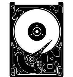 Hard drive disk icon vector