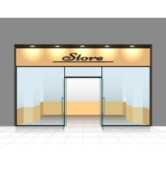 Empty shop front vector