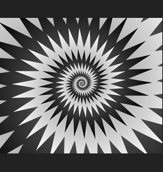 abstract spiral background in black and white vector image