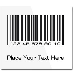 Bar code label with shadow ilustration vector