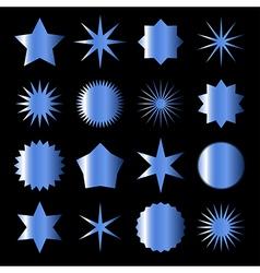 blue stars vector image