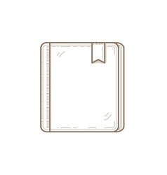 Book line icon with bookmark vector