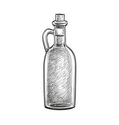 bottle of olive oil vector image vector image