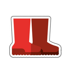 Cartoon boots rubber gardening image vector