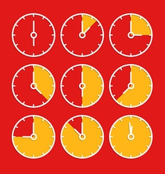 chronometer clip-art Flat design elements vector image vector image