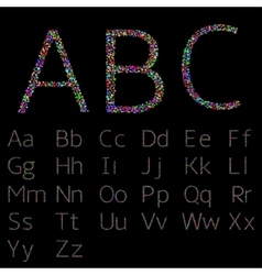 Colorful confetti letters vector image vector image