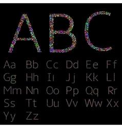 Colorful confetti letters vector