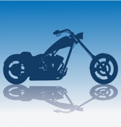 custom blue chopper vector image vector image