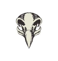 Eagle Skull Retro vector image vector image