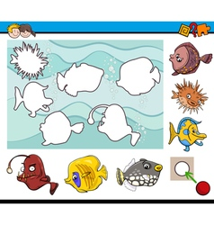 educational activity with fish vector image vector image