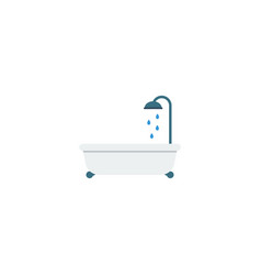 flat icon bathtub element of vector image vector image