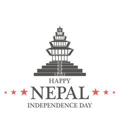 Independence day nepal vector