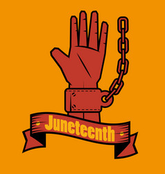 Juneteenth awareness design vector