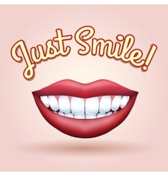 Just Smile vector image vector image