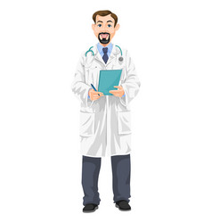 Male doctor vector