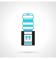 Office water cooler flat icon vector