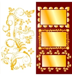 Ornamental design elements and frames vector image vector image