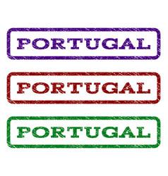 portugal watermark stamp vector image vector image