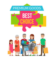 premium goods best choice on vector image vector image
