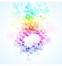 Rainbow bubbles vector