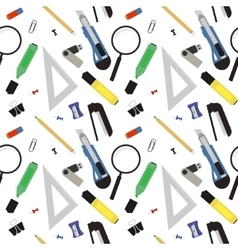 Stationery tools pattern Color vector image vector image