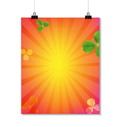 Summer sale banner with sunburst vector
