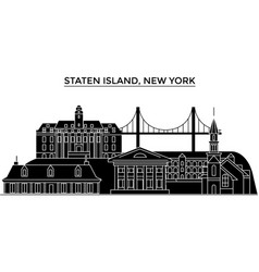 usa staten island new york architecture vector image