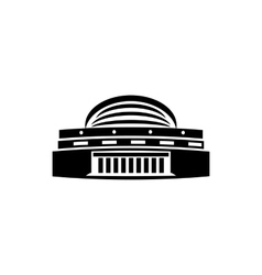 Building with a round roof icon simple style vector