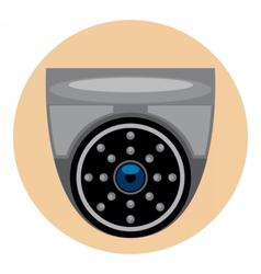 Digital silver and black surveillance vector image