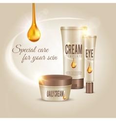 Skin Care Cosmetic Cream Concept vector image