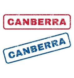 Canberra rubber stamps vector