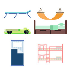 Exclusive sleeping furniture design bedroom with vector