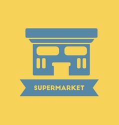 Supermarket building vector