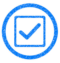 Checkbox rounded grainy icon vector