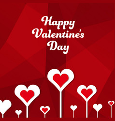 square banner happy valentines day vector image