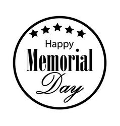 Happy memorial day card vector