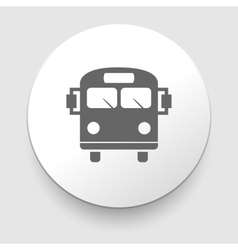 School bus icon with color variations vector