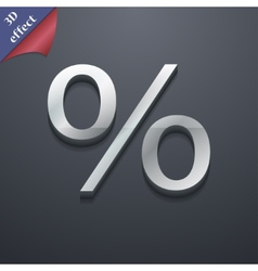 Discount percent icon symbol 3d style trendy vector
