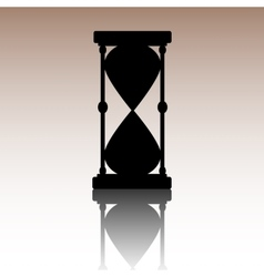 Hourglass black silhouette vector