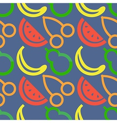 Pattern with closeup fruits berries cherry vector