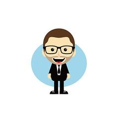 Geek cartoon nerd character vector
