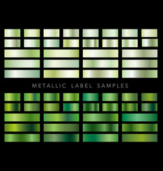a set of various metallic label samples vector image vector image
