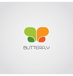 Abstract butterfly symbol vector