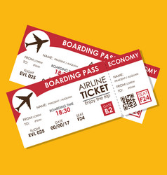 airline ticket flight icon vector image