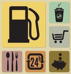 benzin ikone3 vector image vector image