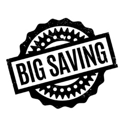 Big saving rubber stamp vector