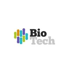 Biotech logo symbol biotechnology logotype vector image vector image